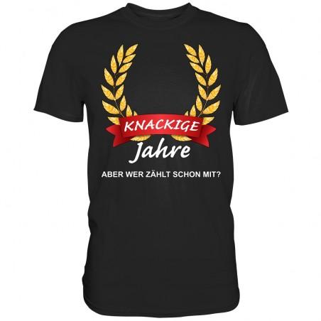 Knackige ?? Jahre wer Zählt schon mit Geburtstag Geschenk Herren T-Shirt Funshirt