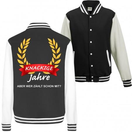Knackige ?? Jahre wer Zählt schon mit Geburtstag Geschenk Jacke College Jacket