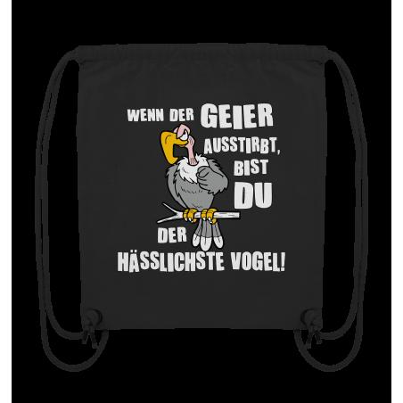 Geier Aussterben Hässlichster Vogel Hässlich Spruch Spass Fun Turnbeutel Sportbeutel Rucksack