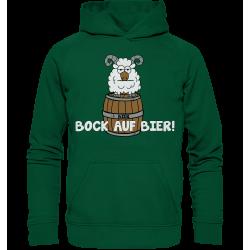 Bock auf Bier! Durst Alkohol Spruch Geschenk Spass Fun Hoodie Funshirt