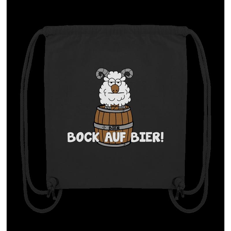 Bock auf Bier! Durst Alkohol Spruch Geschenk Spass Fun Turnbeutel Sportbeutel Rucksack