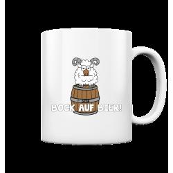Bock auf Bier! Durst Alkohol Spruch Geschenk Spass Fun Tasse Becher Kaffeetasse