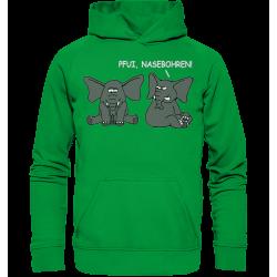 Pfui, Nasebohren! Elefant Spielen Rubbeln Spruch Spass Fun Hoodie Funshirt