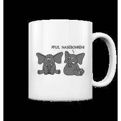 Pfui, Nasebohren! Elefant Spielen Rubbeln Spruch Spass Fun Tasse Becher Kaffeetasse