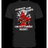 Keine Therapie eine Kettensäge reicht Spruch Idee Fun Herren T-Shirt Funshirt