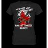 Keine Therapie eine Kettensäge reicht Spruch Idee Fun Damen T-Shirt Funshirt