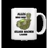 Alles selber machen lassen Schildkröte Faul Null Bock Spruch Fun Tasse Becher Kaffeetasse
