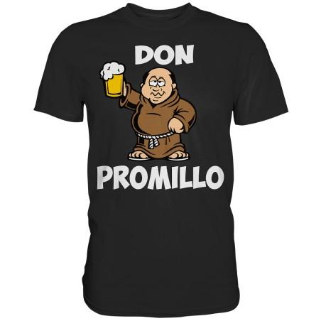 Don Promillo Alkohol Bier Mönch Spruch Spass Fun Herren T-Shirt Funshirt