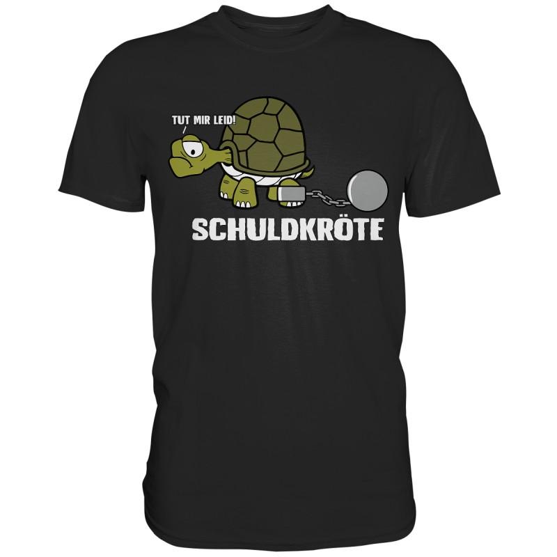 Die Schuldkröte Schildkröte Spruch Geschenk Spass Fun Herren T-Shirt Funshirt